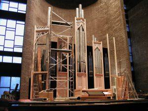 Orgel Limperich im Bau